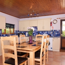 Hardy Chalet Dining Area and Kitchen