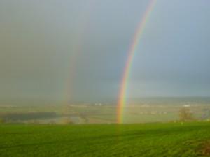 Double Rainbow at Stour Cross Farm