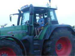 Boys in tractor 6